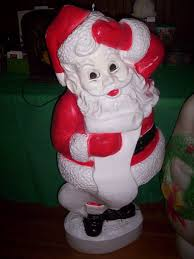 Blow Mold Christmas Yard Decorations Vintage Christmas Blow Mold Santa Claus W List Union Products