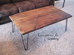 Hairpin Legs Coffee Table Remodelaholic Reclaimed Wood Coffee Table With Hairpin Legs