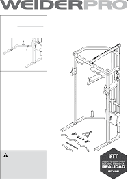 weider fitness equipment pro olympic cage bench 14933 pdf user u0027s
