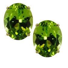 peridot stud earrings gems for you 14k oval cut peridot stud earrings free shipping