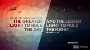 what day did god create light why did god make the stars words for the kingdom