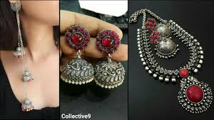 metal necklace designs images Latest silver jewellery designs black metal ornaments designs jpg