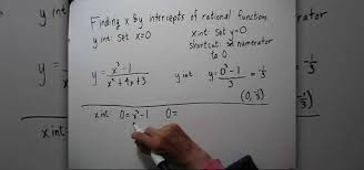 how to find the x u0026 y intercepts of rational functions math