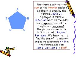 Formula For Interior Angles Of A Polygon Polygons By Leinard