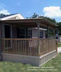 covered porch plans 45 great manufactured home porch designs
