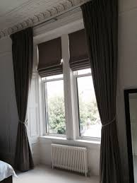 john lewis luna fabric in mocha roman blinds and triple pleat
