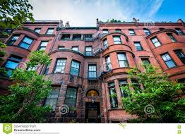Row Houses by Beautiful Brick Rowhouses In Back Bay Boston Massachusetts