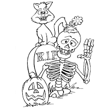 Coloriage A Imprimer Halloween Squelette Collezione Dessin Qui Fait