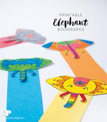 free printable elephant bookmarks