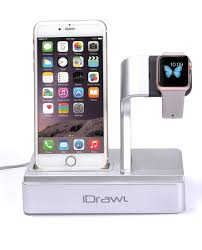 amazon com apple watch stand apple watch charger iphone docking