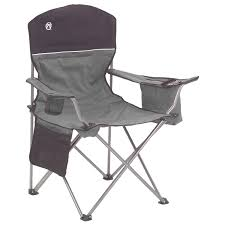 Coleman Stainless Steel Cooler Costco by Coleman Oversized Quad Chair W Cooler Slickdeals Net