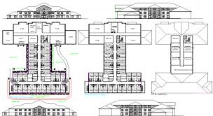 hotel floor plan dwg autocad file hotel project