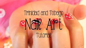 trinidad and tobago flag kids nail art tutorial socamom youtube