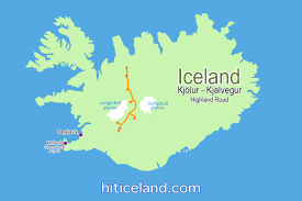 Iceland World Map Kjölur Or Kjalvegur Highland Drive Is The Easiest And Most