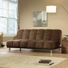convertible sofa amazon com sauder deshler convertible sofa in coffee kitchen