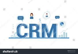 crm concept design vector elements flat stock vector 589576028