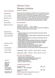 Pharmacy Resume Stylish Ideas Pharmacy Tech Resume Template Winsome Design Sample