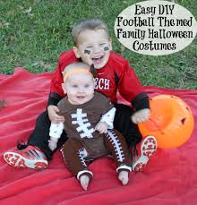 Family Halloween Costume With Baby by Easy Diy Football Themed Halloween Family Halloween Costumes