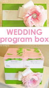 how to create a wedding program how to make a wedding program box jpg