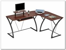 Large L Desk Wonderful Z Line Belaire Glass L Shaped Gaming Computer Desk In Z