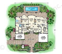 corleone courtyard house plan estate house plan