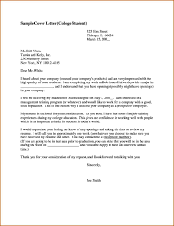college student cover letter examples 69 images best photos