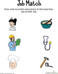 job match worksheet education com