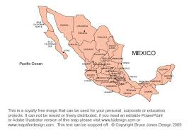 map central mexico mexico map clipart 32