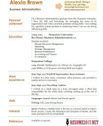 Resume Sample For Business Administration Graduate by Homey Ideas Business Administration Resume 14 Business