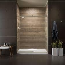 Kohler Shower Door Kohler Levity 59 In X 74 In Semi Frameless Sliding Shower Door