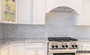 WHITE CARRARA SUBWAY BACKSPLASH TILE Backsplashcom - Marble backsplashes