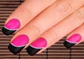 19 dazzling nail art design ideas with rhinestones