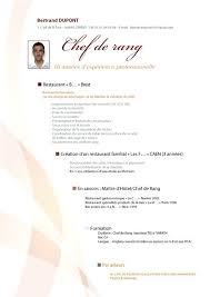 formation chef de cuisine cv de caissier en chef motivation chef cuisine beau mole chef