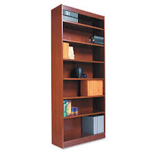 Narrow Mahogany Bookcase by Amazon Com Alera Bcs33636my Square Corner Wood Veneer Bookcase