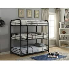 three bunk beds triple bunk beds you ll love wayfair