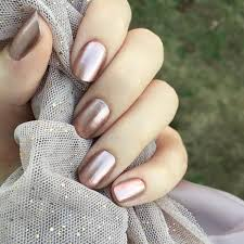 metallic rose gold nails nails pinterest gold nail rose and