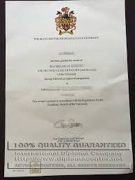 high quality sample of mmu degree certificate the manchester