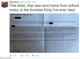 sends parents letter about wildo the daily mail online
