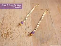 make bead chain necklace images Chain and bead earrings tutorial the d i y dreamer jpg