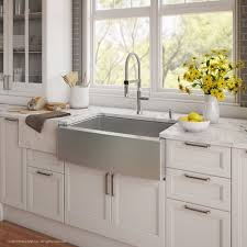 farmhouse faucet kitchen kraus kitchen combos 30 x 20 single basin farmhouse apron