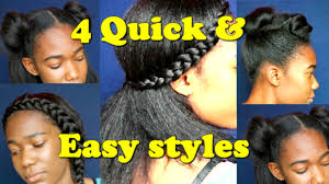 hairstyles quick and easy to do m 4 quick lazy day hairstyles blown out natural hair jah nette