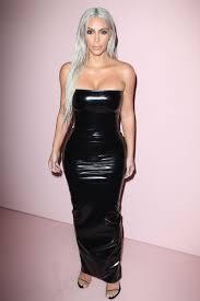 vinyl trend celebrities wearing latex dresses trousers glamour uk