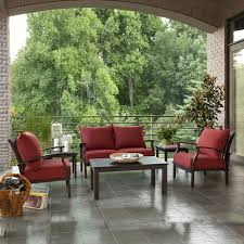 4 Piece Wicker Patio Furniture - allen roth gatewood 4 piece outdoor conversation set lowe u0027s