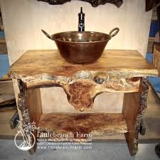 Natural Wood Furniture by Rustic Vanities Rustic Vanity Bathroom Vanity Littlebranch Farm