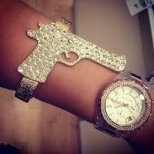 crystal gold bracelet images Jewels gun bracelets crystal gold bracelets gunbracelet jpg