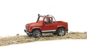 land rover bruder 02591 bruder land rover defender pick up red the farm toy store