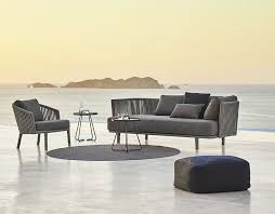 moments 2 seater sofa by cane line couture outdoor