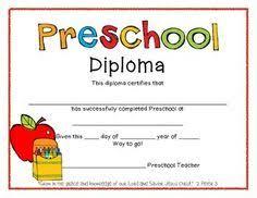 preschool diploma printable preschool diploma work infants prek