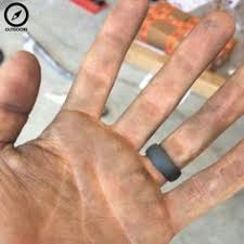 rubber wedding ring rhino rings a rubber wedding ring for athletes construction