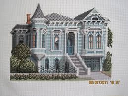 small victorian houses debbie patrick cross stitch design 150 divisadero street san
